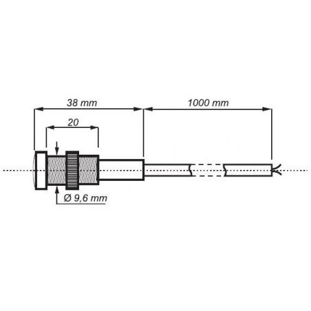 Interruttore sensore crepuscolare 12V AC DC 16A con sensore discreto su foro murale