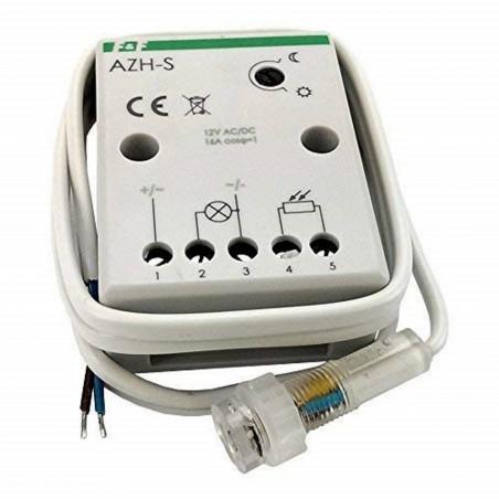 Interruptor de sensor crepuscular de 12V CA CC 16A con sensor discreto en el orificio de la pared