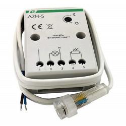 Interruttore sensore crepuscolare 230V AC 16A con sensore discreto su foro murale