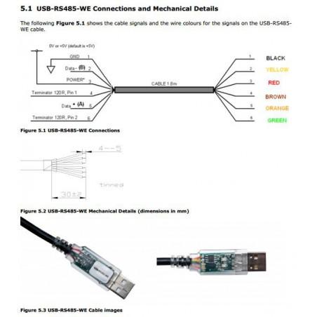 Convertidor de cable profesional USB RS485 FTDI para conexión por cable