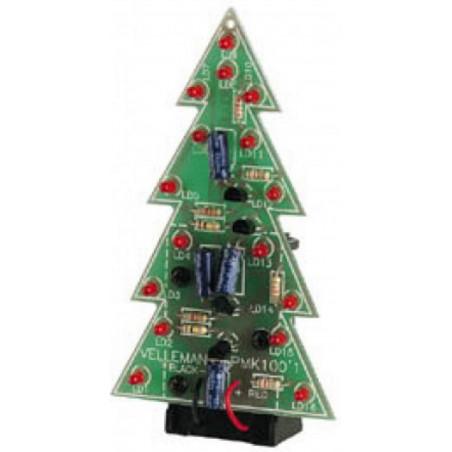 MONTATO Albero Natale con 16 LED lampeggianti a Batteria 9-12V