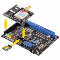Combinatore telecontrollo GSM antifurto segnalazione 5 IN 4 OUT, rele TTS vocale