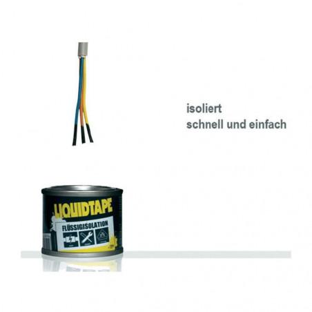 Isolante liquido nero Plasti Dip® 118ml 55000V/mm anti abrasione con pennello