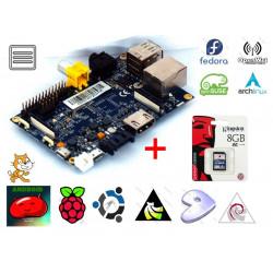 PC intégré BananaPI ARM dual core 1GHz 1GB RAM, SATA, USB, IR, SD, HDMI
