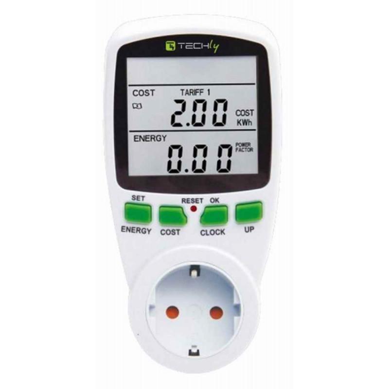 Detector de consumo de energía y costo de energía en el enchufe