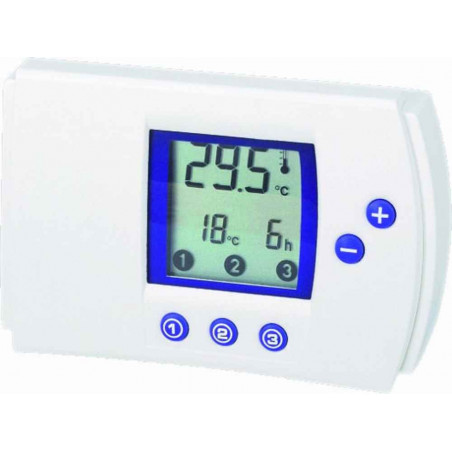 Digital programmable electronic air conditioning heating thermostat