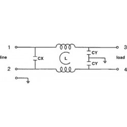 EMI 250V 10A störungsfreier Netzfilter mit Klemmen am Elektrokabel
