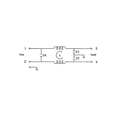 Filtre secteur anti-interférence EMI 250V 10A avec bornes sur câble électrique