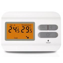 Termostato digitale da parete a display LCD controllo caldo freddo a batteria