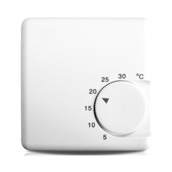 Analogue electronic thermostat selectable rotating 5 - 30 degrees hot cold 230V