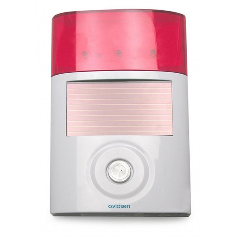 Sirena solare wireless supplementare esterna per kit Allarme Avidsen 100108