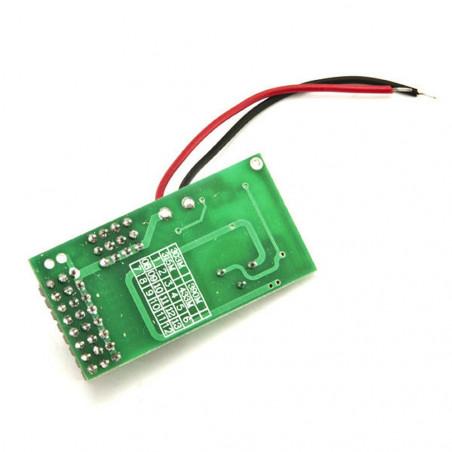 Trasmettitore TX 1 canale 433,92MHz 12V SC2262 per radiocomandi e sensori allarmi
