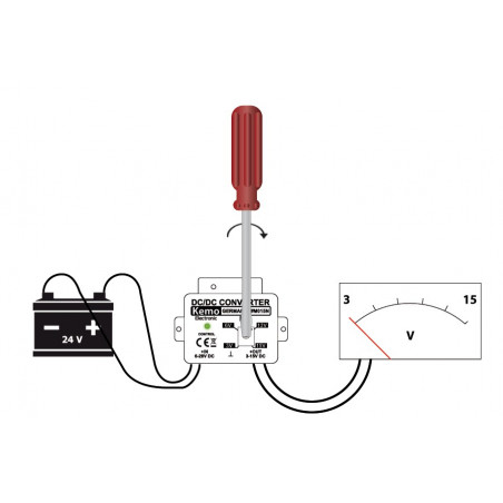Convertidor DC DC reductor estabilizado ajustable de 3V a 15V DC 1.5A
