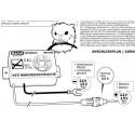 Repellente ultrasuoni Topi Martore Roditori autoveicoli cofano motore 12V DC