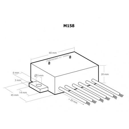 12V DC Wasser- oder Leitfähigkeitsschalter mit Relaiskontakt am Ausgang