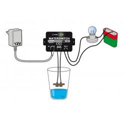 Interruttore presenza acqua o liquidi conduttivi 12V DC con contatto a relè in uscita