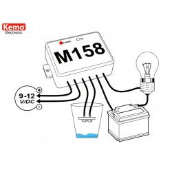Interrupteur de présence d'eau ou de liquide conducteur 12 V CC avec contact de relais en sortie