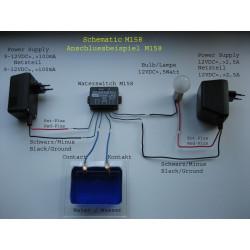 Interruptor de presencia de agua o líquido conductor de 12 V CC con contacto de relé en la salida