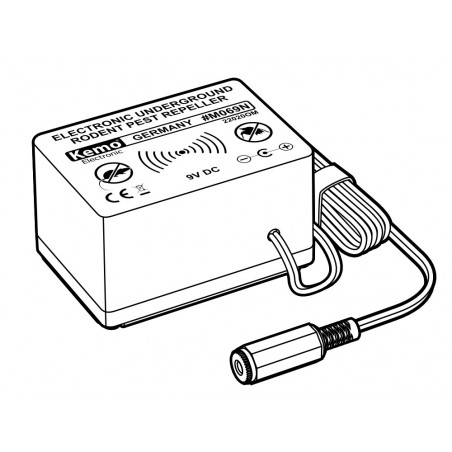 Electronic underground repellent for moles and rodents protection of land up to 1000m2