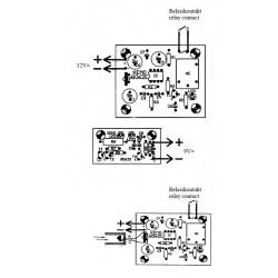 KIT barriera luce ad infrarossi 18m trasmettitore ricevitore 12V DC uscita a relè