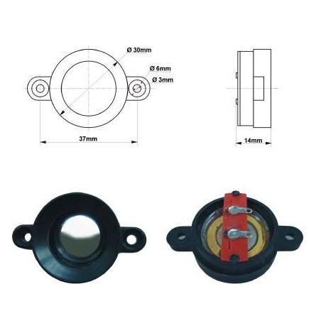 Altoparlante trasduttore ultrasuoni miniaturizzato diametro 30mm contatti a saldare