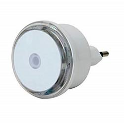 Luz nocturna LED con sensor crepuscular y enchufe Electraline Electraline