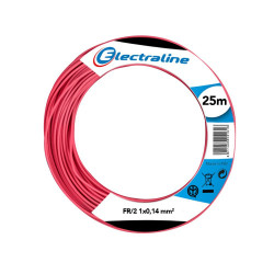 25 m black cable skein for electronics FR 1x0.14 mmq Electraline 19001