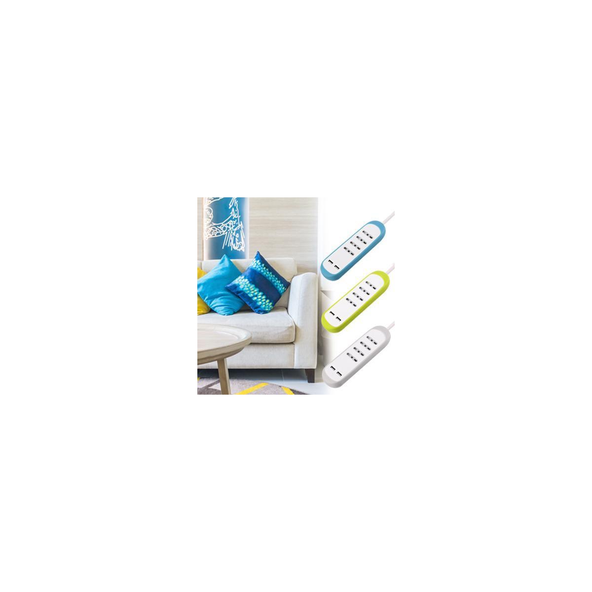 Multipresa-4-Posti-10-16A-2-USB-2-1A-Copertura-Protezione-Antiscivolo-Silicone miniatura 15