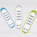 Multipresa 4 Posti 10/16A 2 USB 2.1A Copertura Prot. Antiscivolo Silicone Grigio