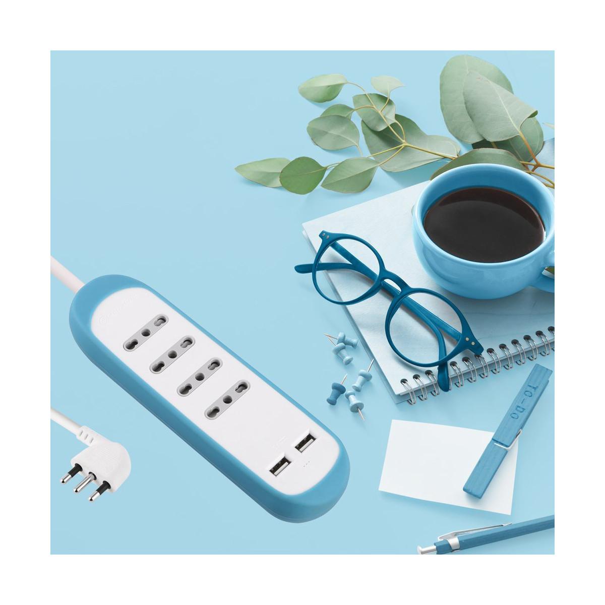 Multipresa-4-Posti-10-16A-2-USB-2-1A-Copertura-Protezione-Antiscivolo-Silicone miniatura 29