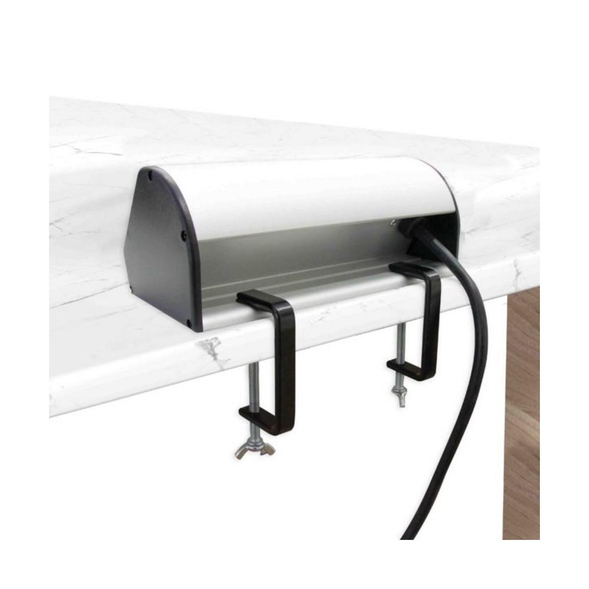Multipresa-da-Scrivania-2-Schuko-10-16A-2-USB-2-4A-supporti-per-fissaggio miniatura 12