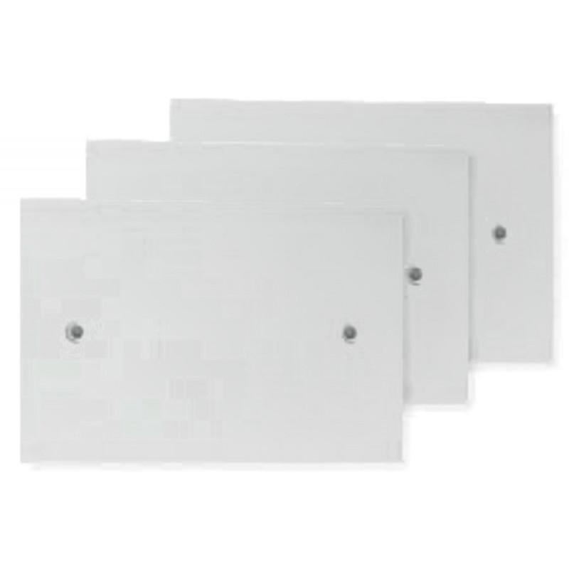 3 x coperchi per scatole rettangolari porta frutto 120x80mm con 2 fori per vite