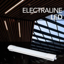 Barra 60cm Luminosa LED Esterno, Plafoniera Giardino, Bianco IP65 20W 230V 4000K