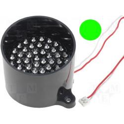 Lampada 50 LED VERDE segnalazione 12V DC su tubo supporto antiriflesso