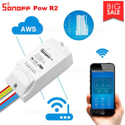 Sonoff Pow R2 15A Wifi Smart Switch Con Monitor Consumo di Energia Smart Home