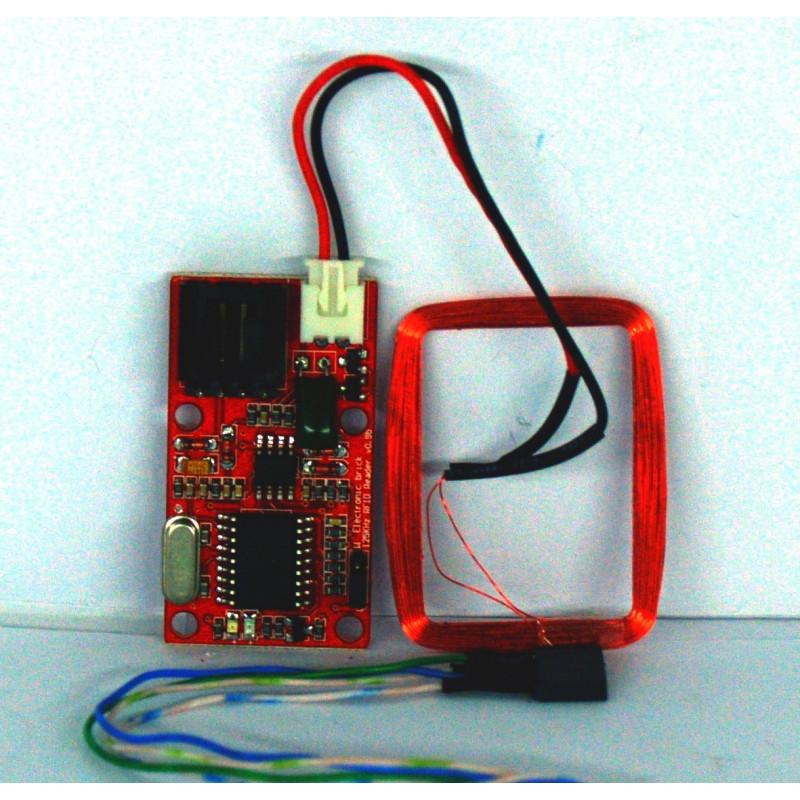 Arduino EM4100 125KHz RS232 y antena Wiegand W26