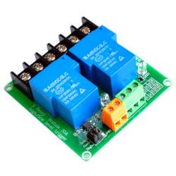 MODULO 2 RELÈ opto isolati di potenza 30A 250VAC Arduino Raspberry