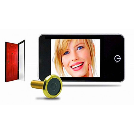 Kit spioncino visore digitale porte d'ingresso camera e display a batteria Avidsen