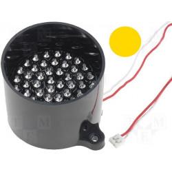 Lampada 50 LED GIALLO segnalazione 12V DC su tubo supporto antiriflesso
