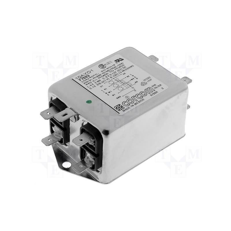 Filtro de red trifásico EMI para dispositivos eléctricos 440V 10A