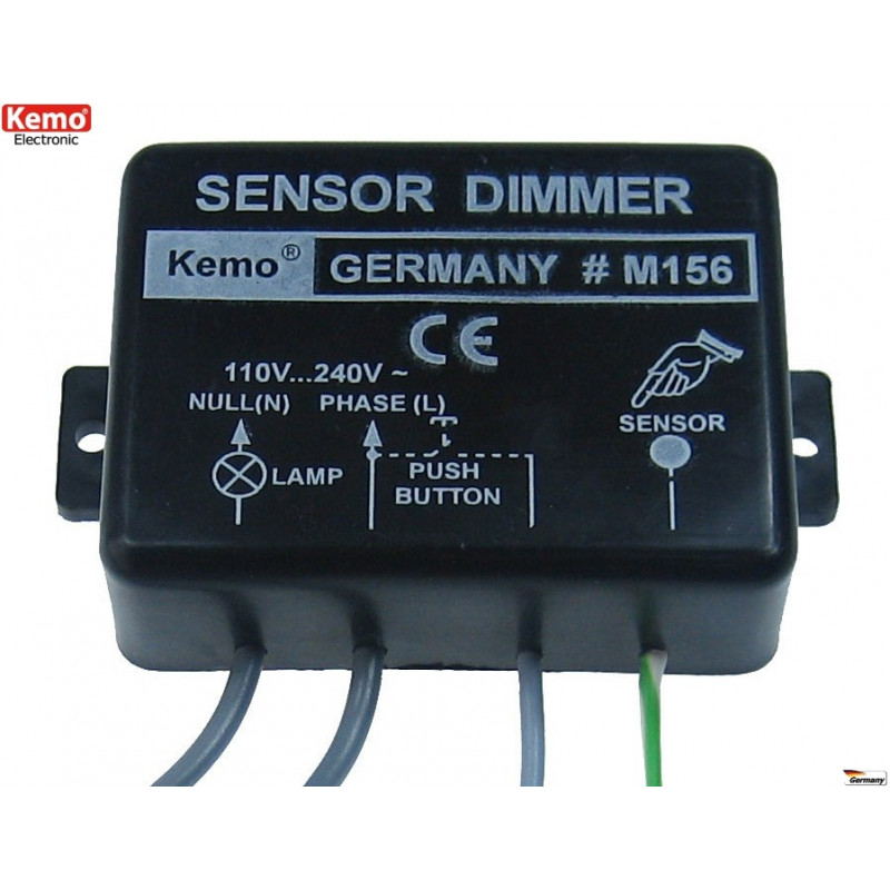 Intelligent built-in electronic dimmer touch sensor button lamps motors 230V 1kW