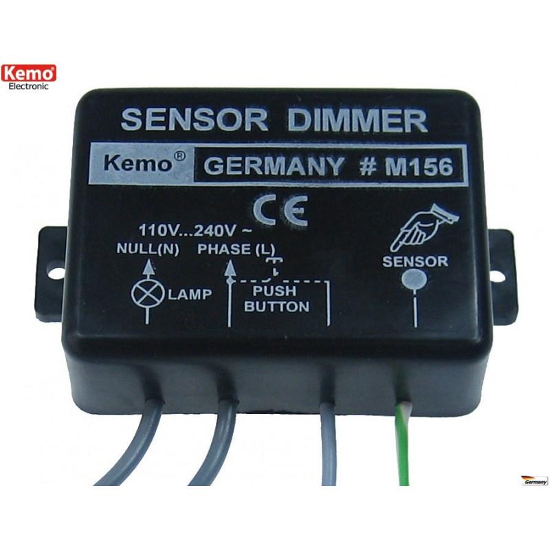 Lampes de bouton de capteur tactile de gradateur électronique intégré intelligent moteurs 230V 1kW