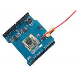 MONTATO LORA SHIELD PER ARDUINO/FISHINO WIRELESS LONG RANGE