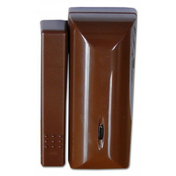 Sensore magnetico porta finestra antifurto marrone wireless 868 MHz Defender