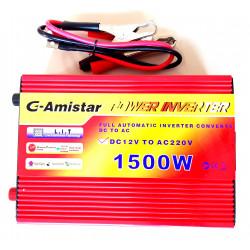 INVERTER AUTO BARCA CAMPER USCITA SINUSOIDALE MODIFICATA 1500W 12V–220VAC+USB