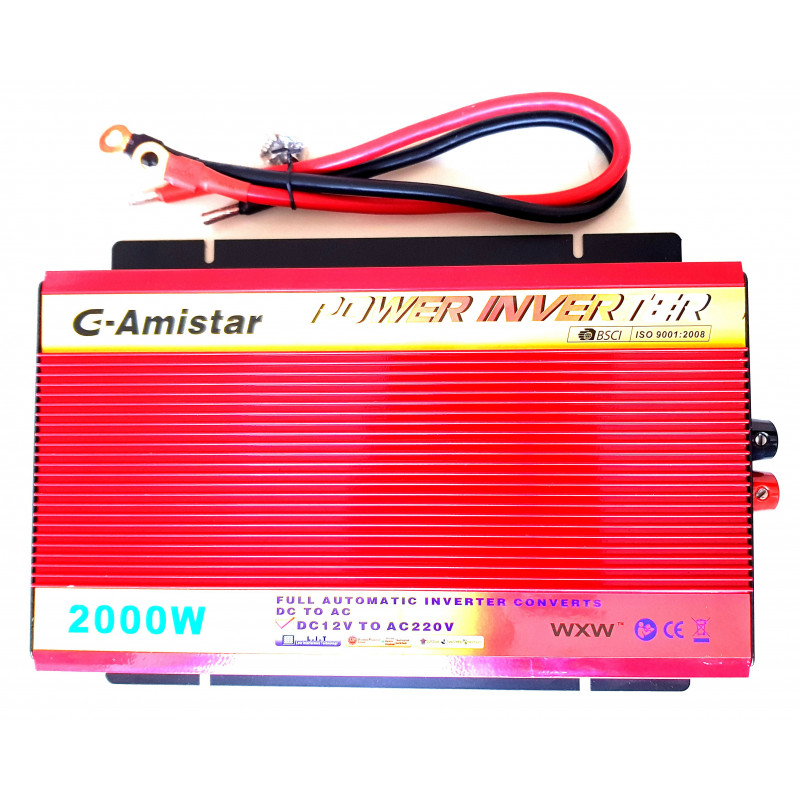INVERTER AUTO BARCA CAMPER USCITA SINUSOIDALE MODIFICATA 2000W 12V–220VAC+USB