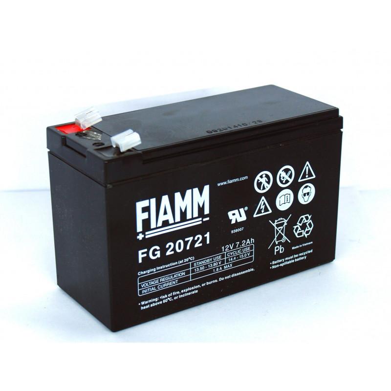 Batteria piombo GEL ricaricabile 12V 1,2Ah per UPS, fotovoltaico, allarmi