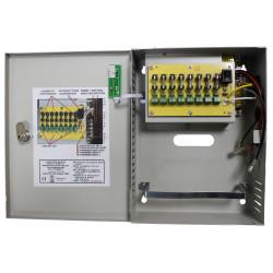 Alimentatore 230V multiplo a 8 canali UPS 12V 130W per TVCC, Domotica, allarmi