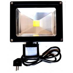 Faro a LED 20W 230V IP65 sensore movimento PIR, crepuscolare e timer regolabile