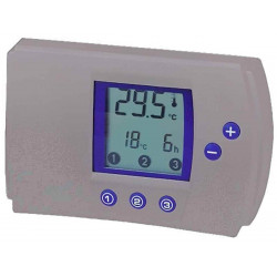 Termostato digitale riscaldamento condizionamento elettronico programmabile argento